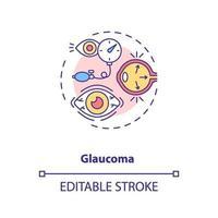 ícone do conceito de glaucoma