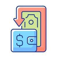 ícone de cor rgb cashback