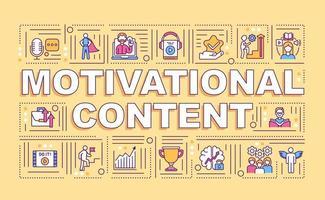 banner de conceitos de palavras de conteúdo motivacional vetor