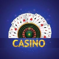 jogo de casino online com slot de casino com fichas coloridas vetor
