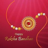 rakhi decorativo para fundo do festival indiano raksha bandhan vetor