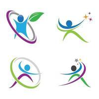 design de imagens de logotipo de bem-estar vetor