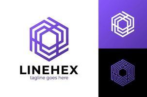 ilustração em vetor design de logotipo hexágono cubo abstrato. logotipo de vetor moderno hexágono abstrato colorido ou design de elemento. melhor para identidade e logotipos. forma simples.
