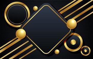 ouro geométrico e fundo preto vetor