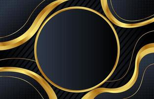 fundo preto e dourado abstrato vetor