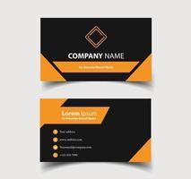 cartão de visita - modelo de cartão de visita criativo e limpo. vetor