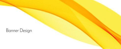 abstrato moderno dinâmico elegante vermelho e amarelo decorativo padrão onda banner fundo vetor