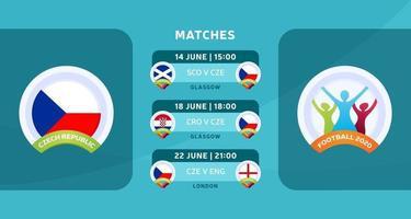 jogo de futebol da república checa 2020 vetor