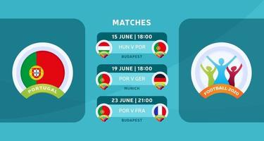 futebol portugal 2020 vetor