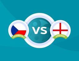 futebol república checa vs inglaterra vetor