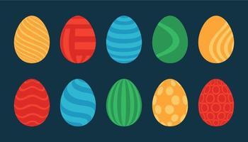 conjunto plano de ovo de páscoa