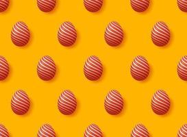 padrão de ovo de páscoa vetor