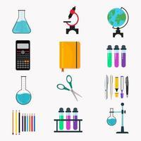 ilustração do conjunto de elementos de laboratório vetor