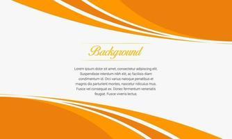 plano de negócios abstrato de curva laranja vetor