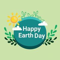 salve o conceito de planeta com grama verde vetor
