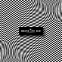 fundo abstrato da arte do projeto da malha do padrão do quadrado branco e preto. ilustração vetorial eps10 vetor