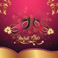 banner de festa de carnaval ou mardi gras vetor