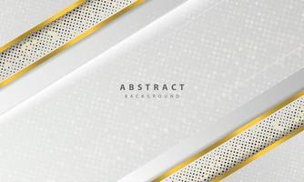 vetor abstrato do fundo branco. vetor de design de conceito elegante. textura com decoração de elemento de pontos de brilhos de prata.