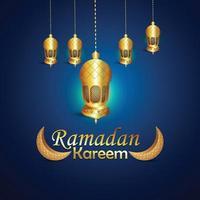 conceito de design e plano de fundo do festival islâmico ramadan kareem vetor