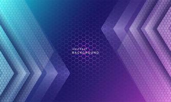 dinâmico na moda simples cor gradiente abstrato com efeitos de textura de hexágono. ilustração vetorial vetor