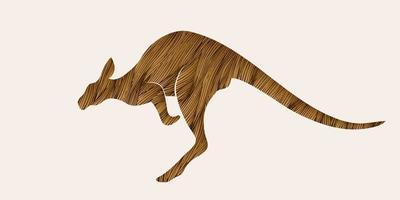 gráfico de salto de canguru vetor