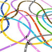 esquema metropolitano de cores abstratas em perspectiva vetor