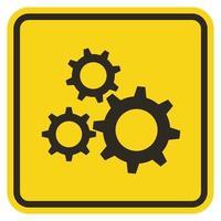 símbolo de ferramenta de serviço assinar em fundo amarelo vetor