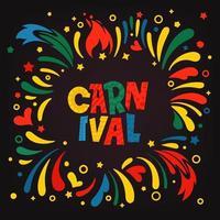 carnaval. conceito de vetor de convite de festa
