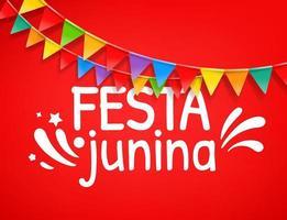 banner de vetor de festa festa junina