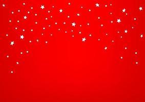 confete branco sobre fundo vermelho. modelo de design