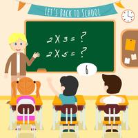 Crianças no vetor de ilustração de sala de aula