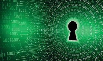 cadeado fechado em fundo digital, segurança cibernética vetor