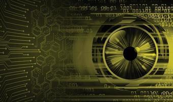 fundo do conceito de tecnologia do futuro do circuito cibernético do olho vetor