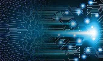 fundo de conceito de tecnologia futura de circuito cibernético azul