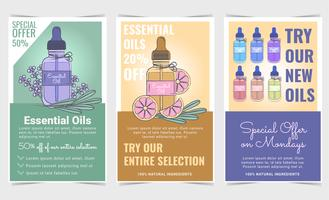 Vector Essential Oils Sale Panfletos
