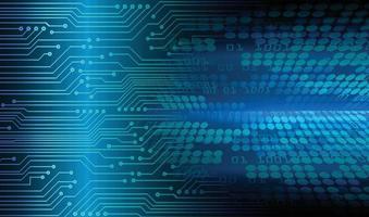 fundo de conceito de tecnologia futura de circuito cibernético azul vetor