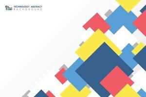 abstrato mínimo colorido no tema de negócios do design padrão quadrado para o fundo da capa. ilustração vetorial eps10