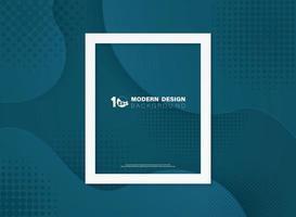 modelo de design de sobreposição azul abstrato simulado fundo. ilustração vetorial eps10