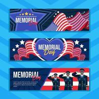 bandeira patriota da bandeira do dia do memorial vetor