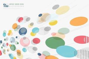 abstrato colorido ponto design decoração padrão trabalho artístico fundo. ilustração vetorial eps10