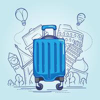 Ilustração de bagagem vetor