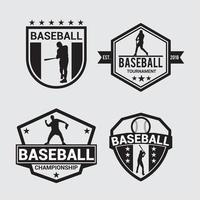 emblemas do logotipo do clube de beisebol modelos de design de vetor