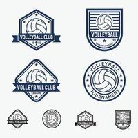 voleibol emblemas logotipos conjunto de modelos de design vetor