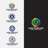 um modelo de design de logotipo de carta vetor