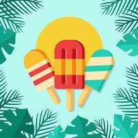 Ilustração de sorvete de picolés vetor