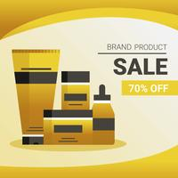 Anúncios de venda de produtos cosméticos vetor