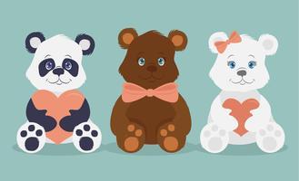 Ilustração de ursos bonitos de vetor