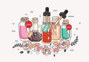 Venda de óleos essenciais vol. 2 vetor