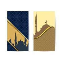 islâmico mês sagrado fundo Ramadan Kareem noite com mesquita. banner islâmico de fundo vetor