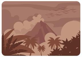 Vetor de erupção do vulcão